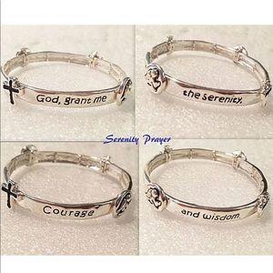 Jewelry - Serenity Prayer Bracelet Recovery AA stretch